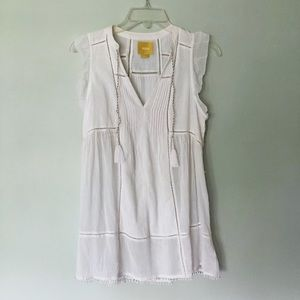 Anthropologie White Sleeveless Shirt